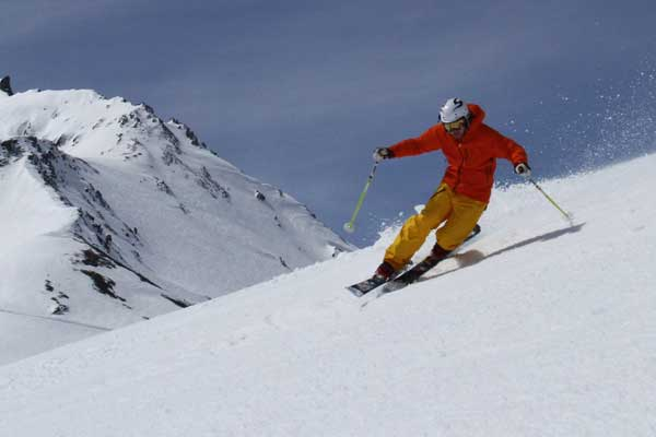 autumn telemark skiing in tignes image of