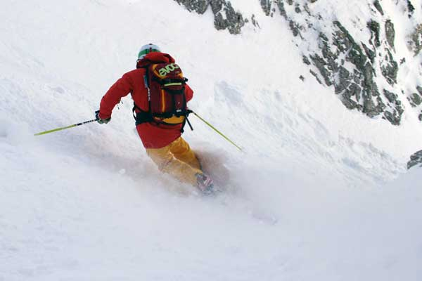 telemarker in the val d'isere powder image of